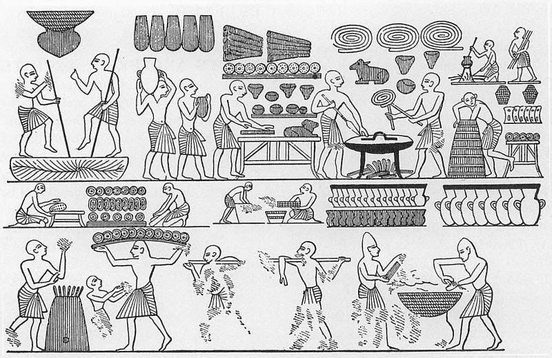 En mesopotamia se hacía pan y cerveza