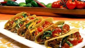 Tacos en las cinco grandes cocinas