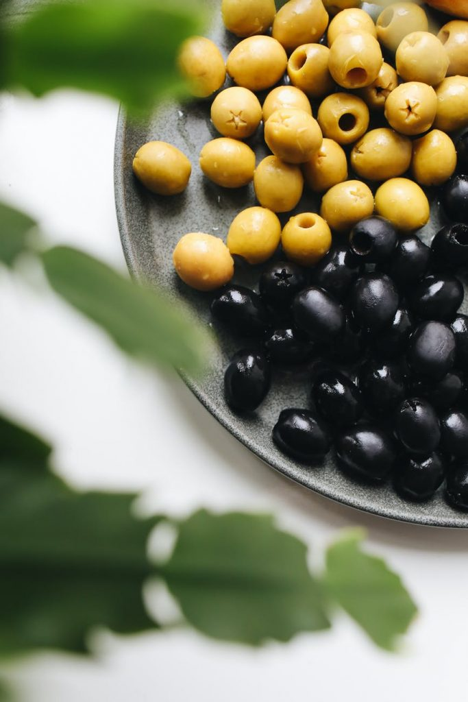 photo of olives on plate